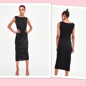 d277ef321928 Zara Dresses | Sparkly Black Lbd Midi Dress | Poshmark
